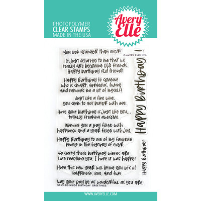 Clear Stamp, Inside Birthday Greetings