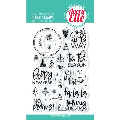 Clear Stamp, Merry Circle Tags