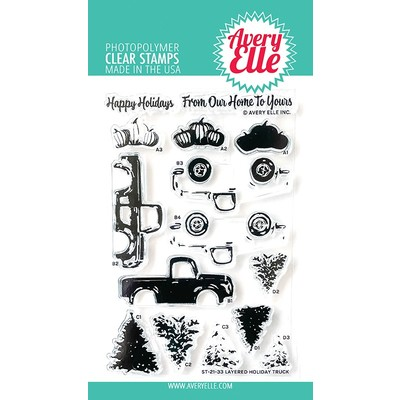 Clear Stamp, Layered Holiday Truck