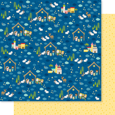 12X12 Patterned Cardstock, Let Us Adore Him - Oh Holy Night