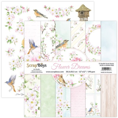 12X12 Paper Pad, Flower Dreams