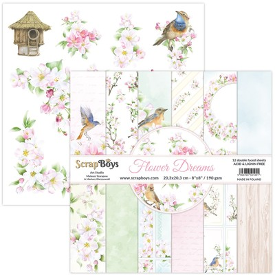 8X8 Paper Pad, Flower Dreams