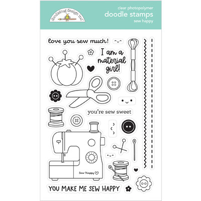 Clear Stamp, Sew Happy