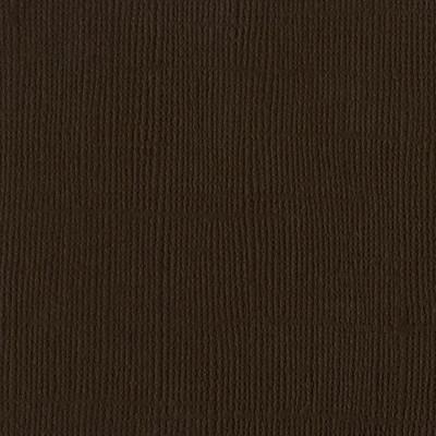 12X12 Mono Cardstock, Brown (Canvas)