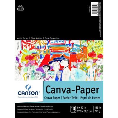 "Canvas Paper Pad, 9"" x 12"""