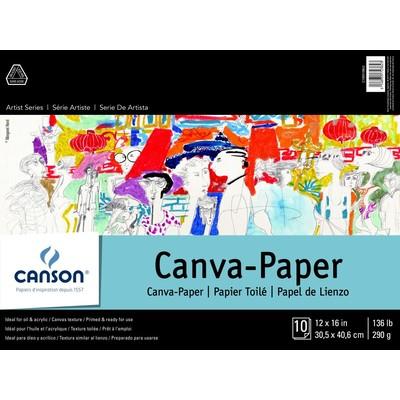 "Canvas Paper Pad, 12"" x 16"""