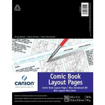 """Comic Book Layout Pages, 8.5"""" x 11"""""""
