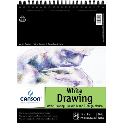 """1557 Pure White Drawing Paper Pad, 11"""" x 14"""""""