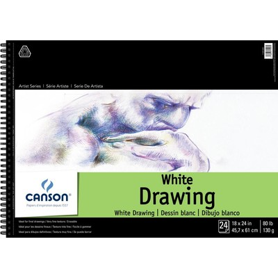 """1557 Pure White Drawing Paper Pad, 18"""" x 24"""""""
