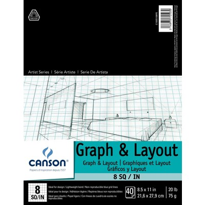 """Foundation Graph & Layout Paper Pad, 8/8 - 8.5"""" x 11"""""""