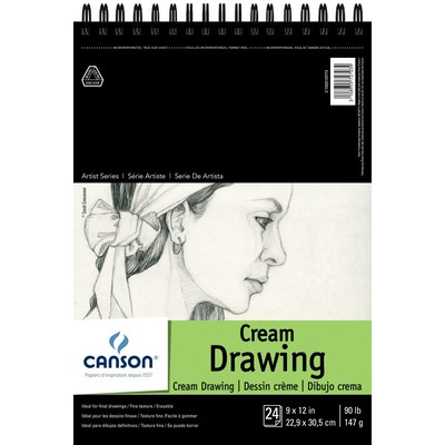 """1557 Classic Cream Drawing Paper Pad, 9"""" x 12"""" (Top Bound)"""