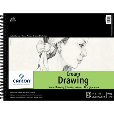 "1557 Classic Cream Drawing Paper Pad, 14"" x 17"""