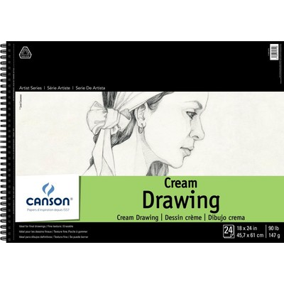 "1557 Classic Cream Drawing Paper Pad, 18"" x 24"""
