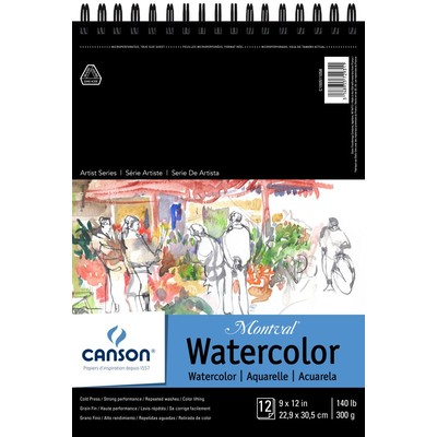 """Montval Watercolor Paper Pad, 9"""" x 12"""" (Wire Bound)"""