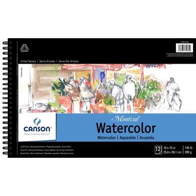 """Montval Watercolor Paper Pad, 10"""" x 15"""" (Wire Bound)"""