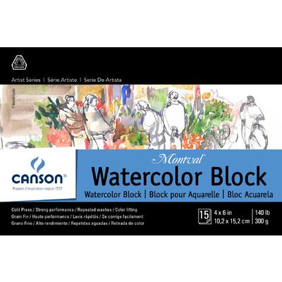 """Montval Watercolor Paper Block, 4"""" x 6"""""""