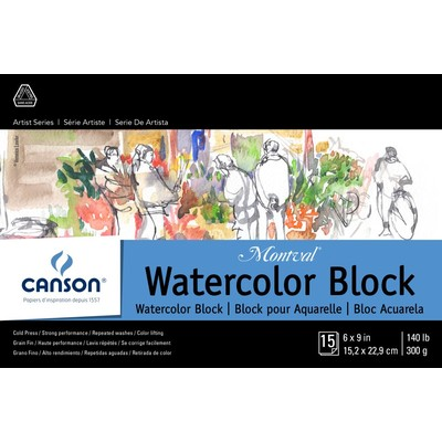 """Montval Watercolor Paper Block, 6"""" x 9"""""""