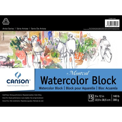 """Montval Watercolor Paper Block, 9"""" x 12"""""""