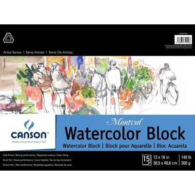 """Montval Watercolor Paper Block, 12"""" x 16"""""""