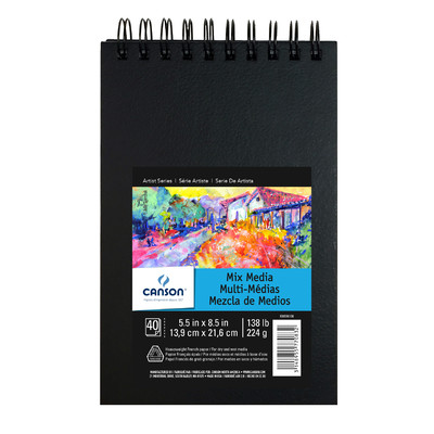 """Mix Media Art Book, 5.5"""" x 8.5"""""""