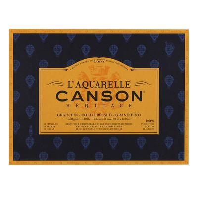 """Heritage L'Aquarelle Paper Block, Cold Pressed - 9.1"""" x 12.2"""""""