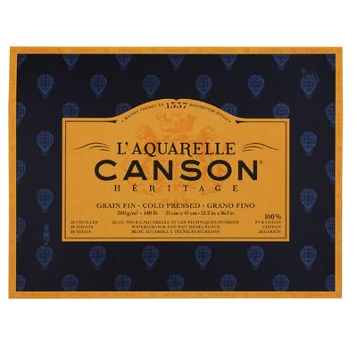 """Heritage L'Aquarelle Paper Block, Cold Pressed - 12.2"""" x 16.1"""""""