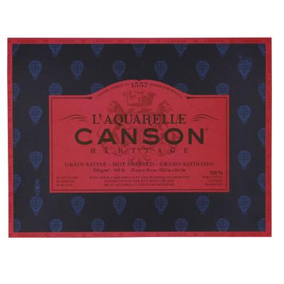 """Heritage L'Aquarelle Paper Block, Hot Pressed - 12.2"""" x 16.1"""""""
