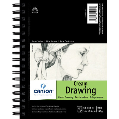 "1557 Classic Cream Drawing Paper Pad, 5.5"" x 8.5"""