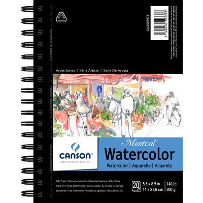 """Montval Watercolor Paper Pad, 5.5"""" x 8.5"""""""