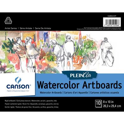 "Plein Air Watercolor Art Board Pad, 8"" x 10"""