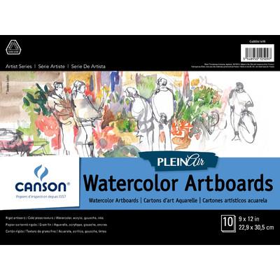 "Plein Air Watercolor Art Board Pad, 9"" x 12"""