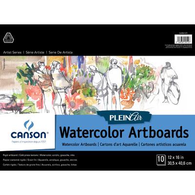 "Plein Air Watercolor Art Board Pad, 12"" x 16"""