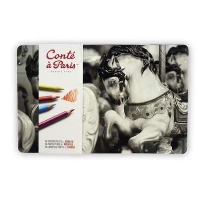 Pastel Pencils Set, Assorted Tin (24pc)