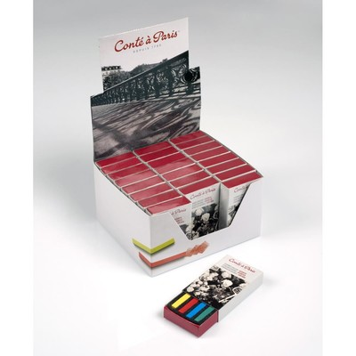 Colour Carre Crayons Counter Display, Matchbox 4pc Sets (24)