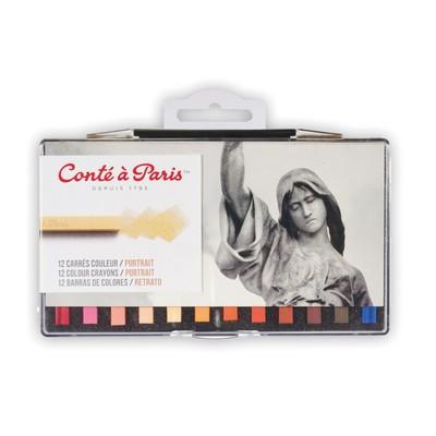 Colour Carre Crayons Set, Portrait (12pc)