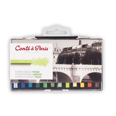 Colour Carre Crayons Set, Landscape (12pc)