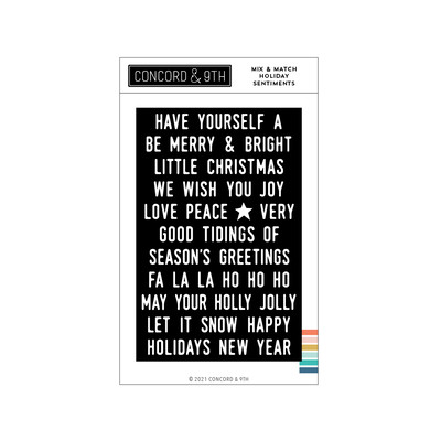 Clear Stamp, Mix & Match Holiday Sentiments