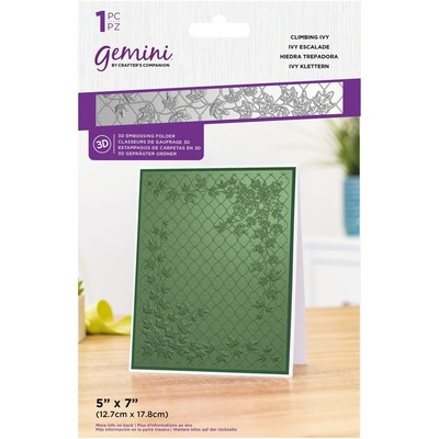 Gemini 3D Embossing Folder, Climbing Ivy
