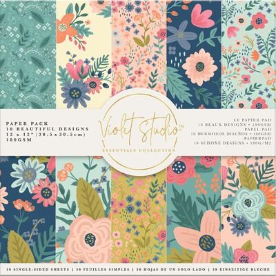 Violet Studio 12X12 Paper Pack, Florals