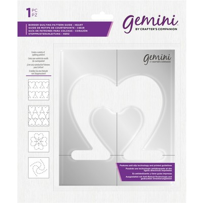 Gemini Border Quilting Pattern Guide, Heart