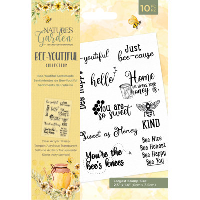 Nature's Garden Clear Stamp, Bee-Youtiful - Sentiments