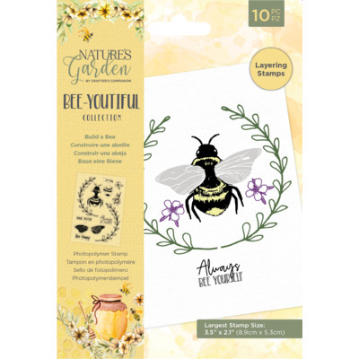 Nature's Garden Clear Stamp, Bee-Youtiful - Build a Bee