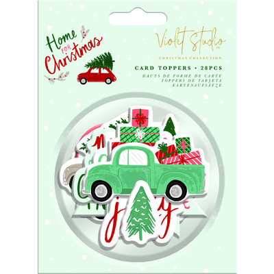 Violet Studio Assorted Toppers, Home for Christmas