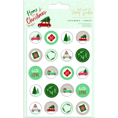 Violet Studio Mini Stickers, Home for Christmas