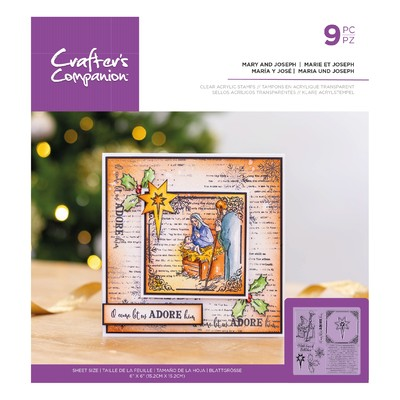 Clear Stamp, Mary and Joseph