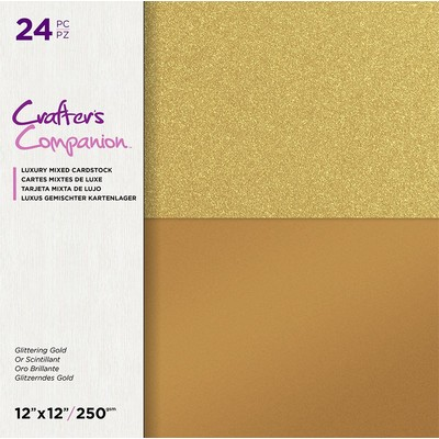 12X12 Mixed Cardstock Pad, Glittering Gold