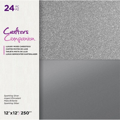12X12 Mixed Cardstock Pad, Sparkling Silver