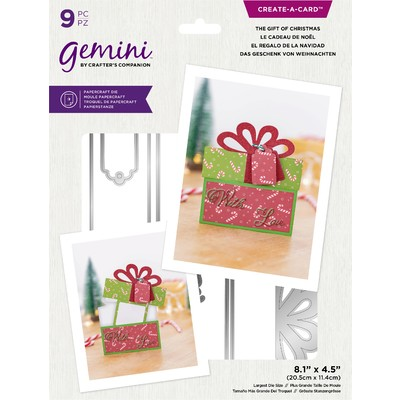 Gemini Create a Card Die, Message Reveal - Gift of Christmas