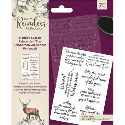 Clear Stamp, The Reindeer Collection - Holiday Season