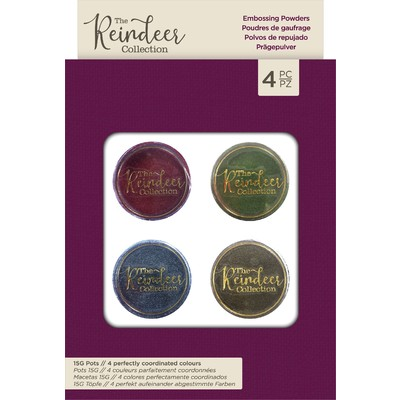 Embossing Powder Set, The Reindeer Collection (4pk)